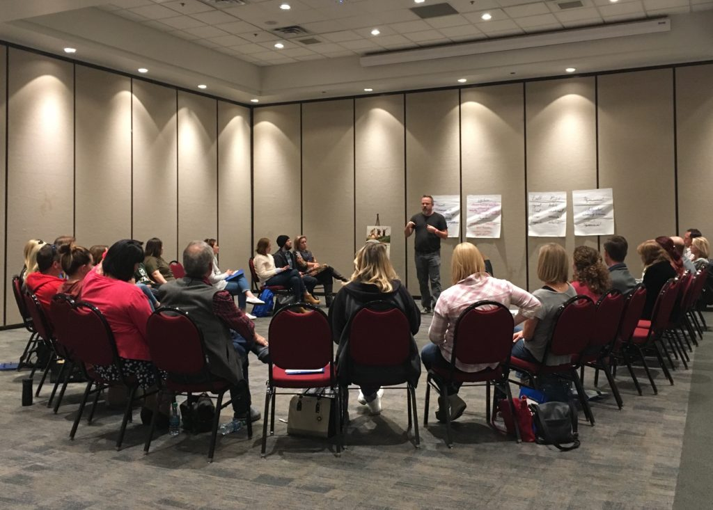 Group of participants engaging in discussion at JDRF's 2017 Type One Nation Summit in Salt Lake City, UT